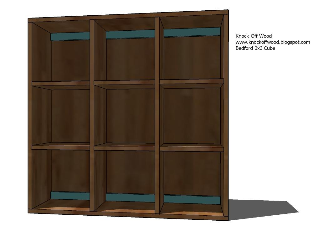 Ana White Cubby Bookcases Modular Office Collection