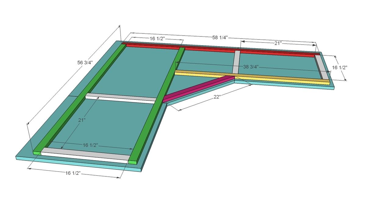 ana white | office corner desktop plans - diy projects