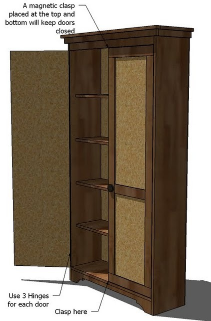 Armoire furniture plans home decor for Wardrobe cabinet design woodworking plans