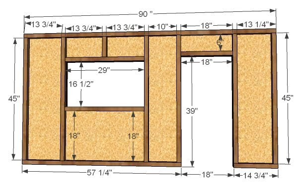 1 U2013 1×4 @ 18u2033 (If You Donu0027t Have A 1×4 Scrap, You Can Use A 1×3 But The  Length Of The Door Sides Will Need To Be Increased To 34u2033)