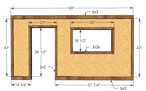 Ana White | Build a Playhouse - Front Wall Options and Door - DIY ...