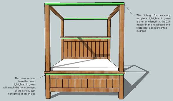 how to build a 4 poster bed frame 2