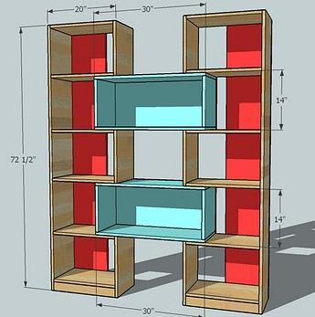 ... Puzzle Bookcase | Free and Easy DIY Project and Furniture Plans