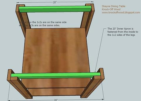 Shelves Use The Diagram Above To Fasten C Shown In Green Legs Nail Through Outsides Of Into