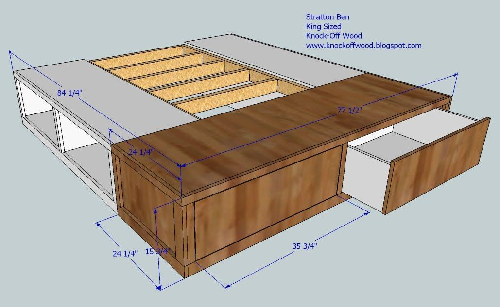 Diy King Size Platform Bed Storage Quick Woodworking