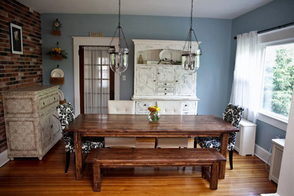 Build Dining Room Table ana white | farmhouse bench  diy projects