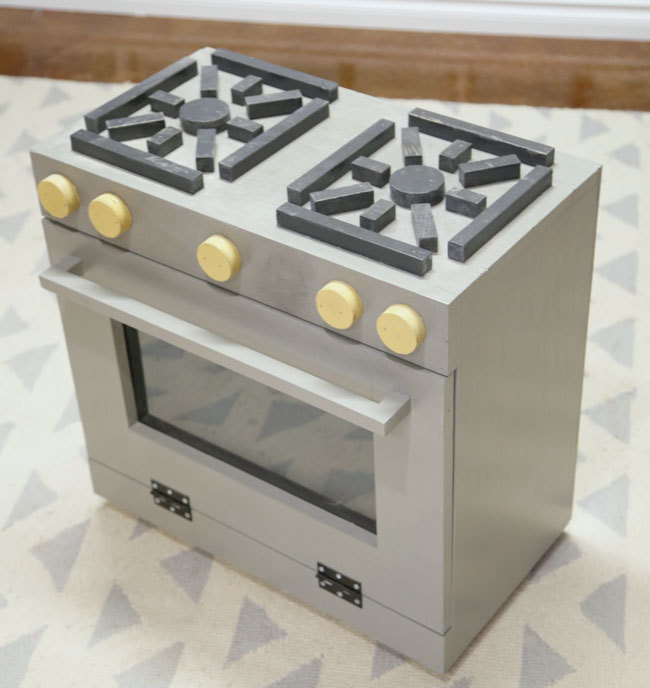 Foodie Play Kitchen Stove Wood Toy | Ana White