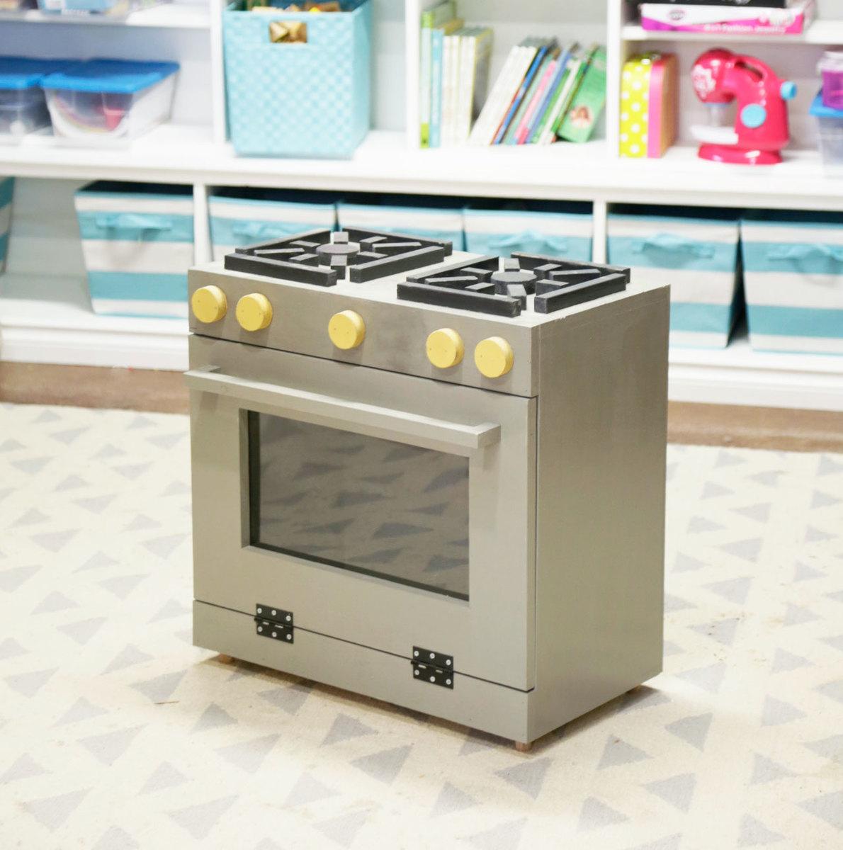Foodie Play Kitchen Stove Wood Toy | Ana White