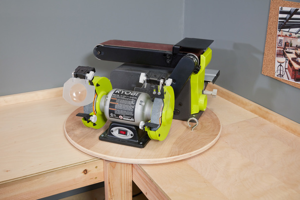Corner Workbench With Bench Tool Lazy Susan Ana White