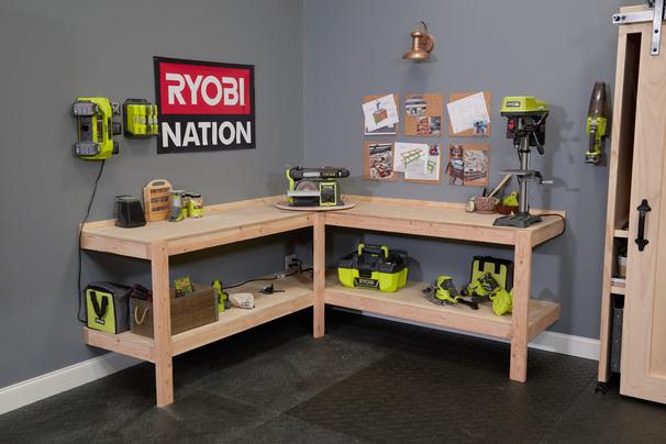 Corner Workbench With Bench Tool Lazy Susan Ana White
