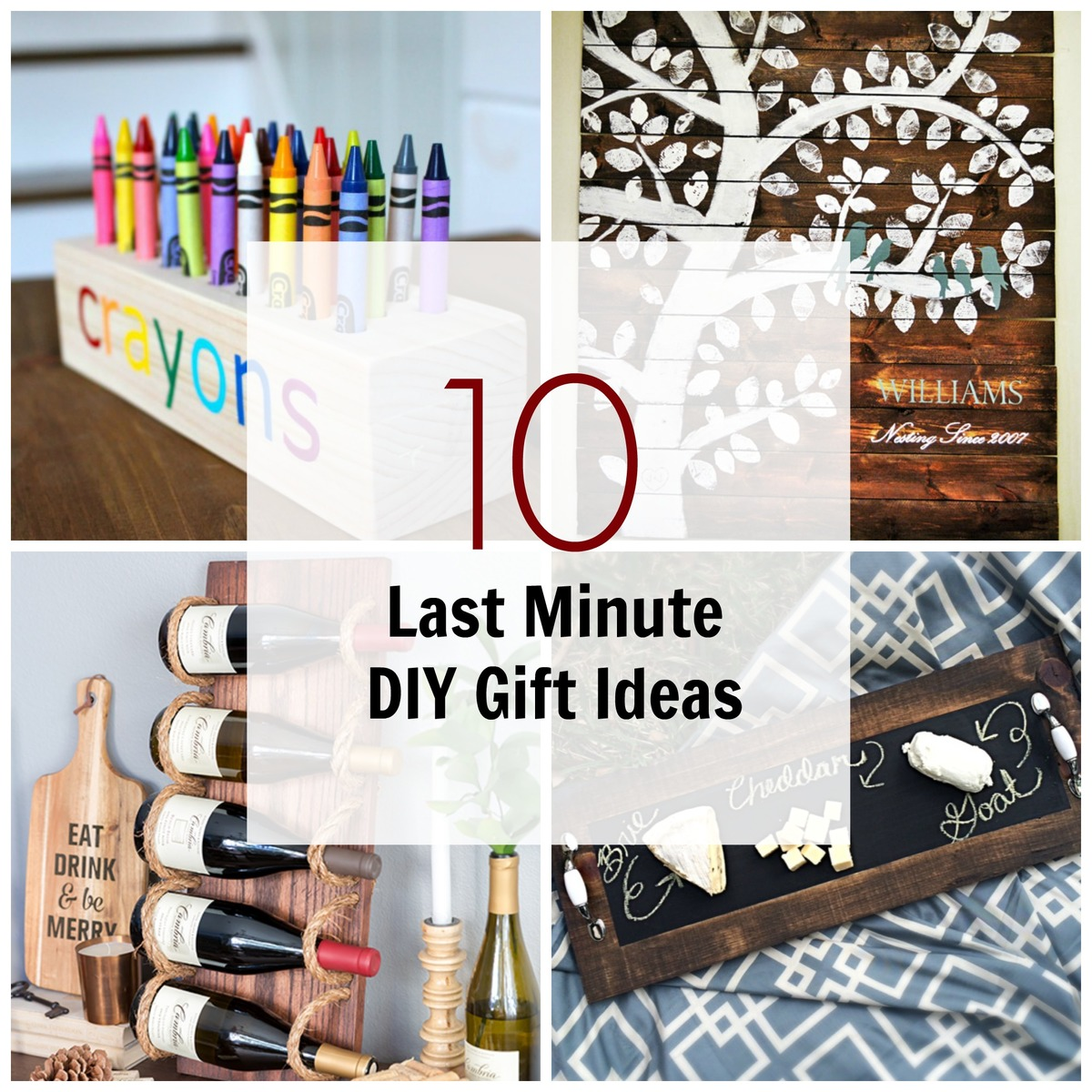 10 Last Minute DIY Wood Gifts That You Can Make
