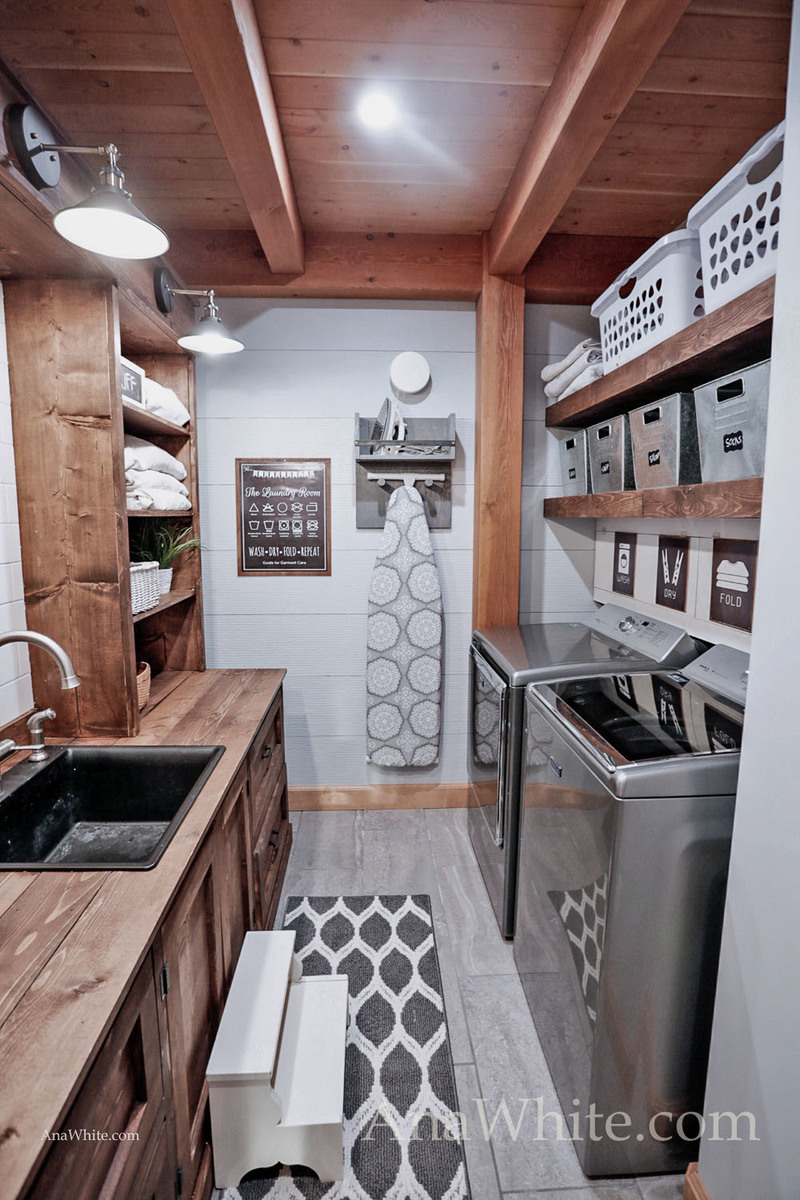 """Our Laundry Room """"Machine"""" Tour + Sources  Ana White"""