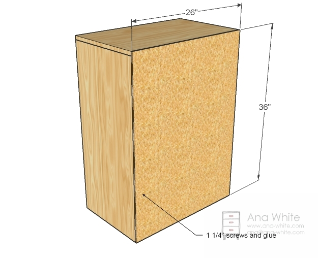 NOTE Top Measurement should be 26u2033  sc 1 st  Ana White & Ana White | Laundry Basket Dresser - DIY Projects Aboutintivar.Com