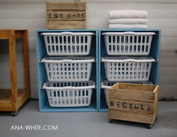 ana white | laundry basket dresser - diy projects Laundry Basket Cabinet