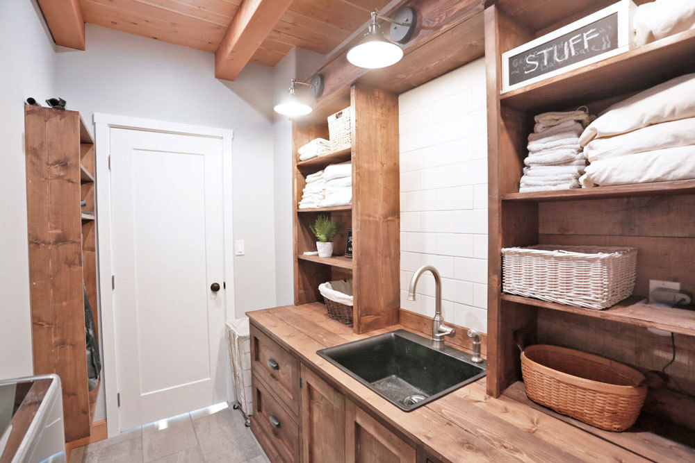 DIY Custom Laundry Room Cabinet With Sink And Hutch Farmhouse Style Free Plans By ANA WHITE