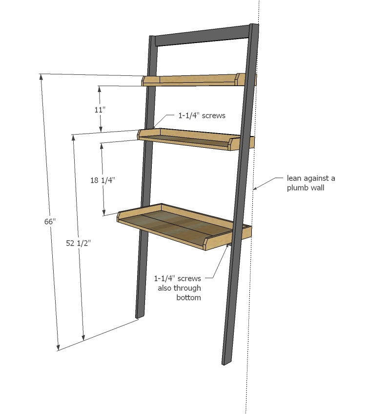 Ana White Leaning Wall Ladder Desk Diy Projects