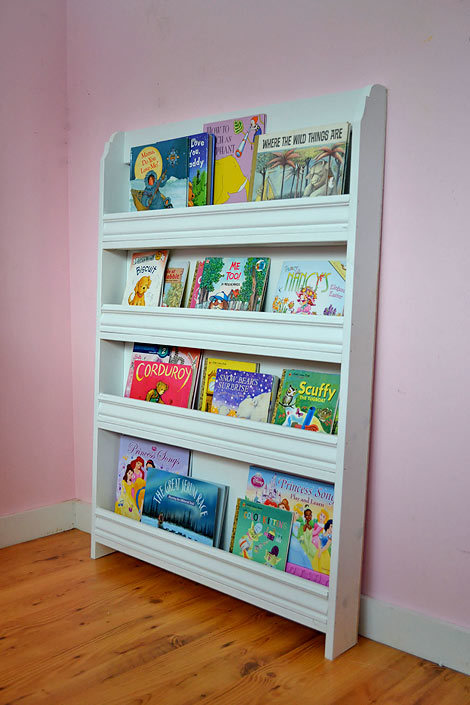 Ana white princess pocket bookshelf diy projects for White bookcase for kids room