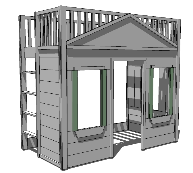 Plans for building full size loft bed quick woodworking Loft bed plans