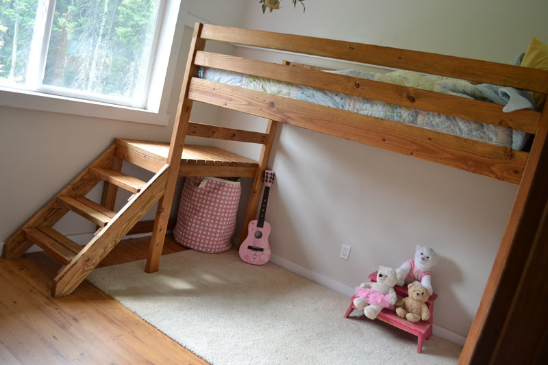 Easy to free queen loft bed plans patt Loft bed plans