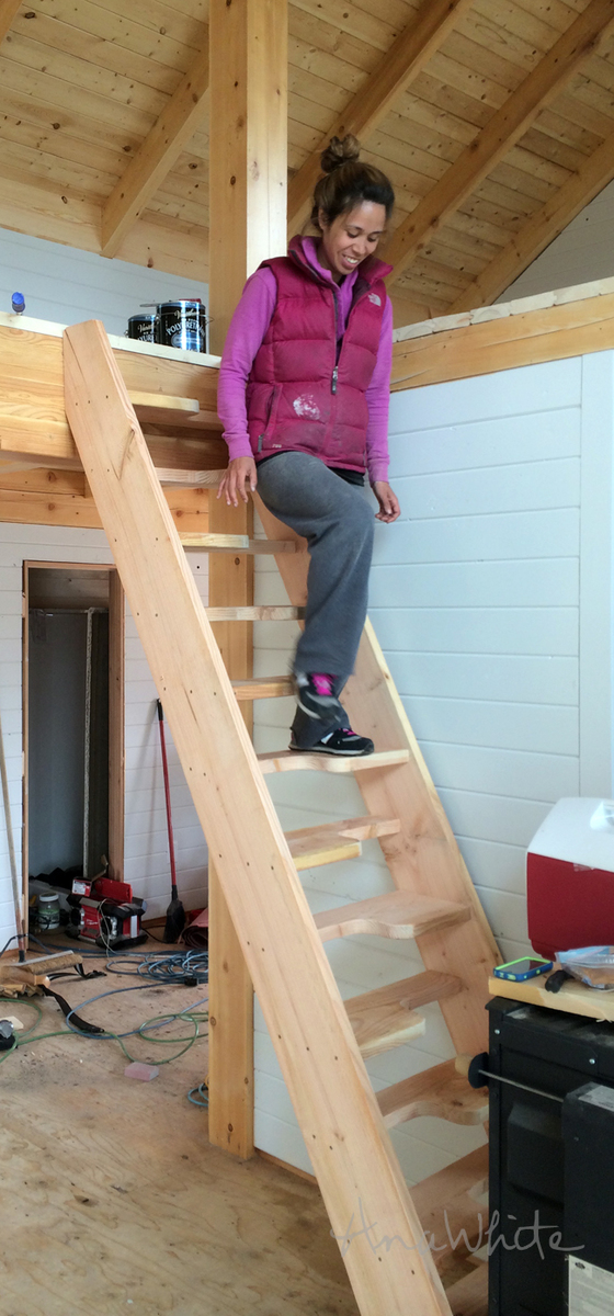 Loft Stairs Alternating Tread Space Saving Stairs For