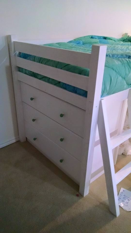 Ana White Small Loft Bed With Dressers Diy Projects