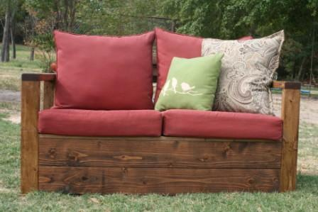Attrayant Simple Outdoor Loveseat With Storage