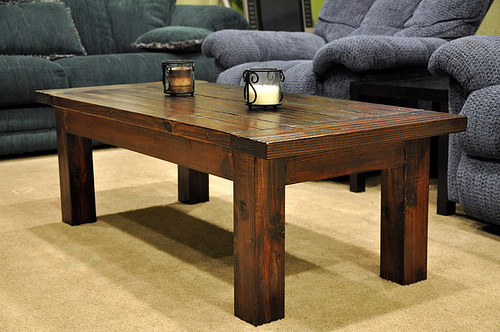 A Beautiful Solid Wood Coffee Table That Is Heavy, Rustic And Substantial.  From Our Beloved Tryde Collection.