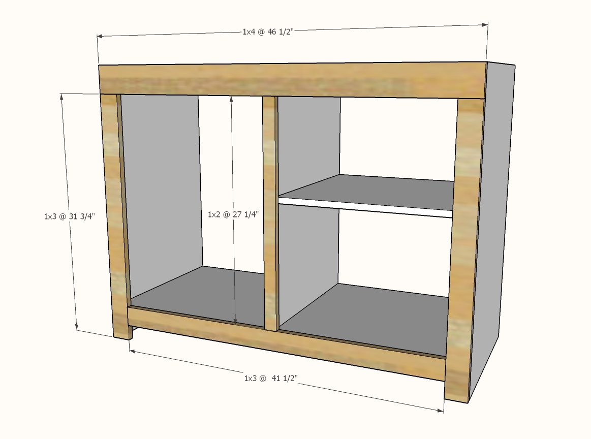Barn Door Cabinet With Mini Fridge And