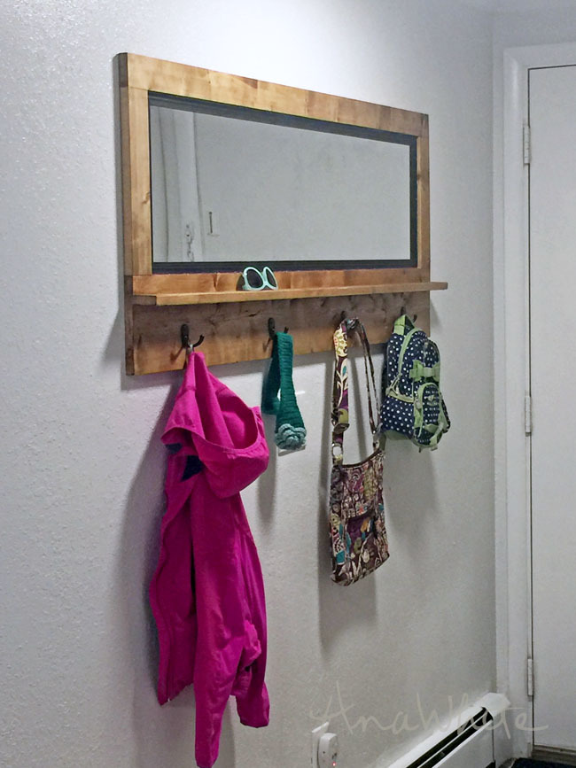 Ana White Mirror With Hooks Diy Projects