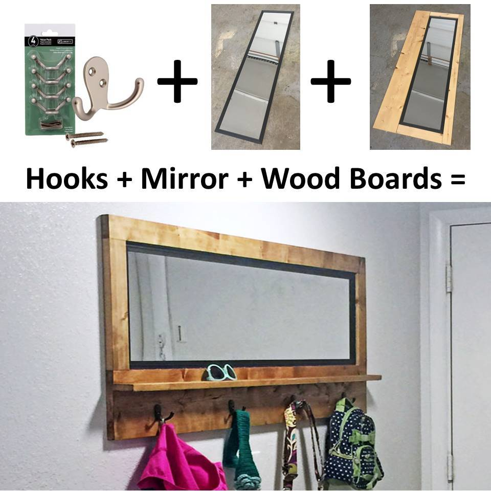 Fresh Mirror with Hooks