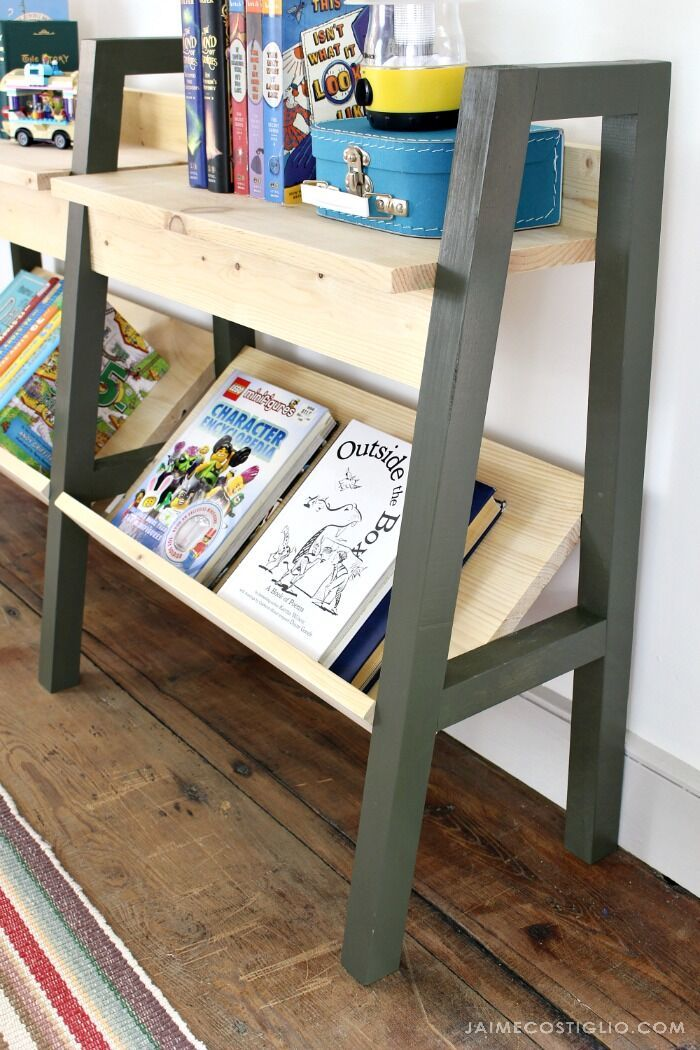 Modern Kids Bookrack Ana White