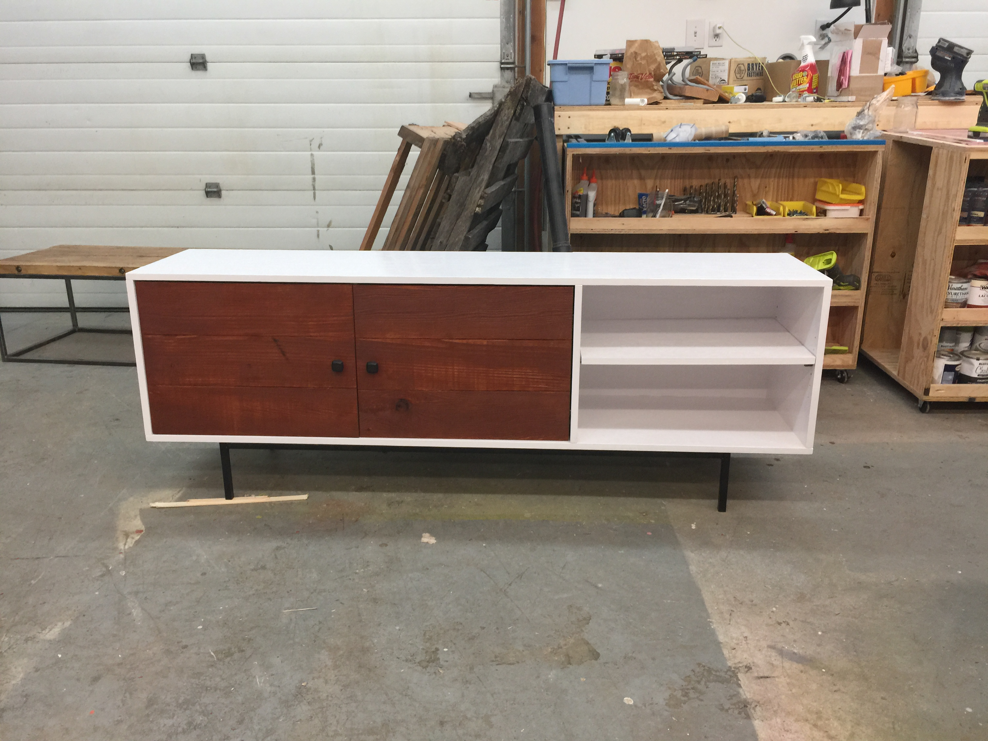 Ana white long modern media console or entertainment Modern media console