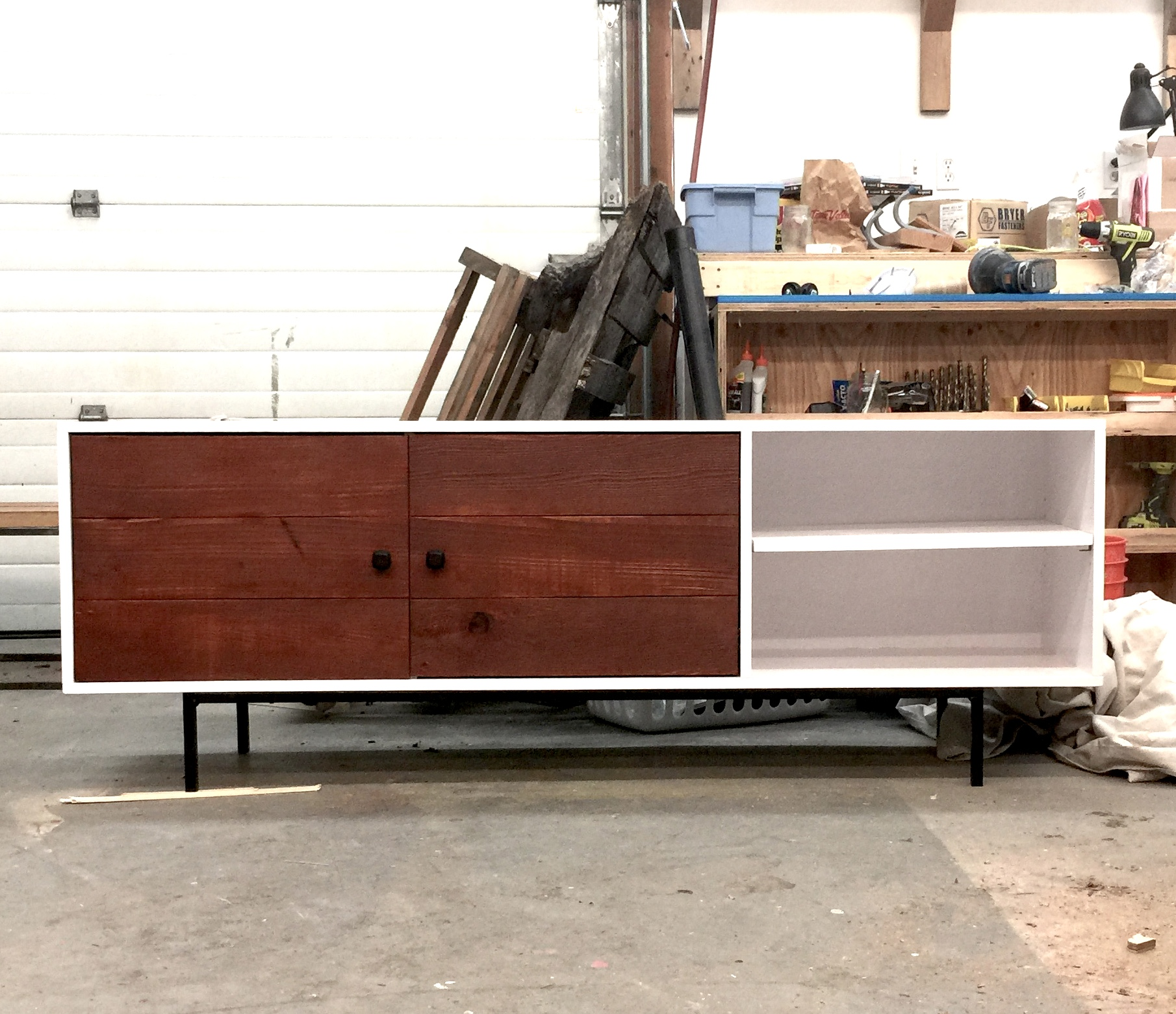 White Wood Entertainment Center Part - 45: Ana White | Long Modern Media Console Or Entertainment Center - DIY Projects