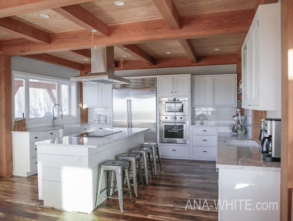 Modern Farmhouse Kitchen ... Almost Done   Ana White