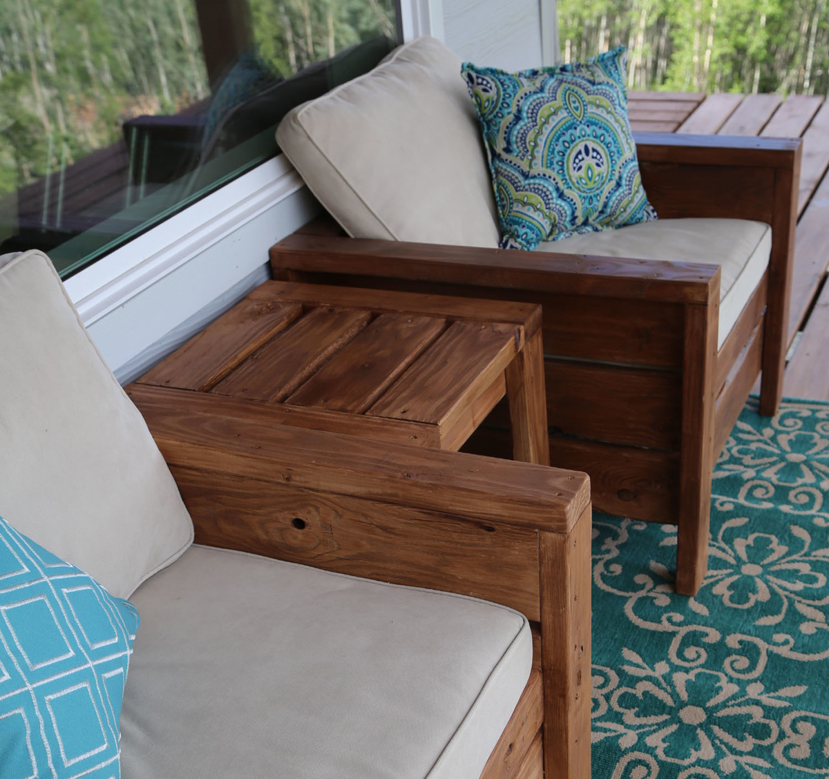 Easy to build sturdy modern outdoor chairs for deck or patio - free plans by Ana-White.com & Ana White | Modern Outdoor Chair from 2x4s and 2x6s - DIY Projects