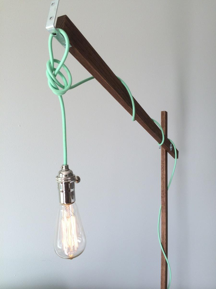 Modern Wood Floor Lamp From A 1x2 Ana