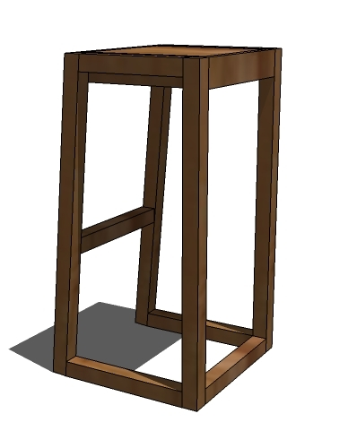 But today we are going to build with angles Not much of one But even a small angle helps keep the stool from wiggling apart over time