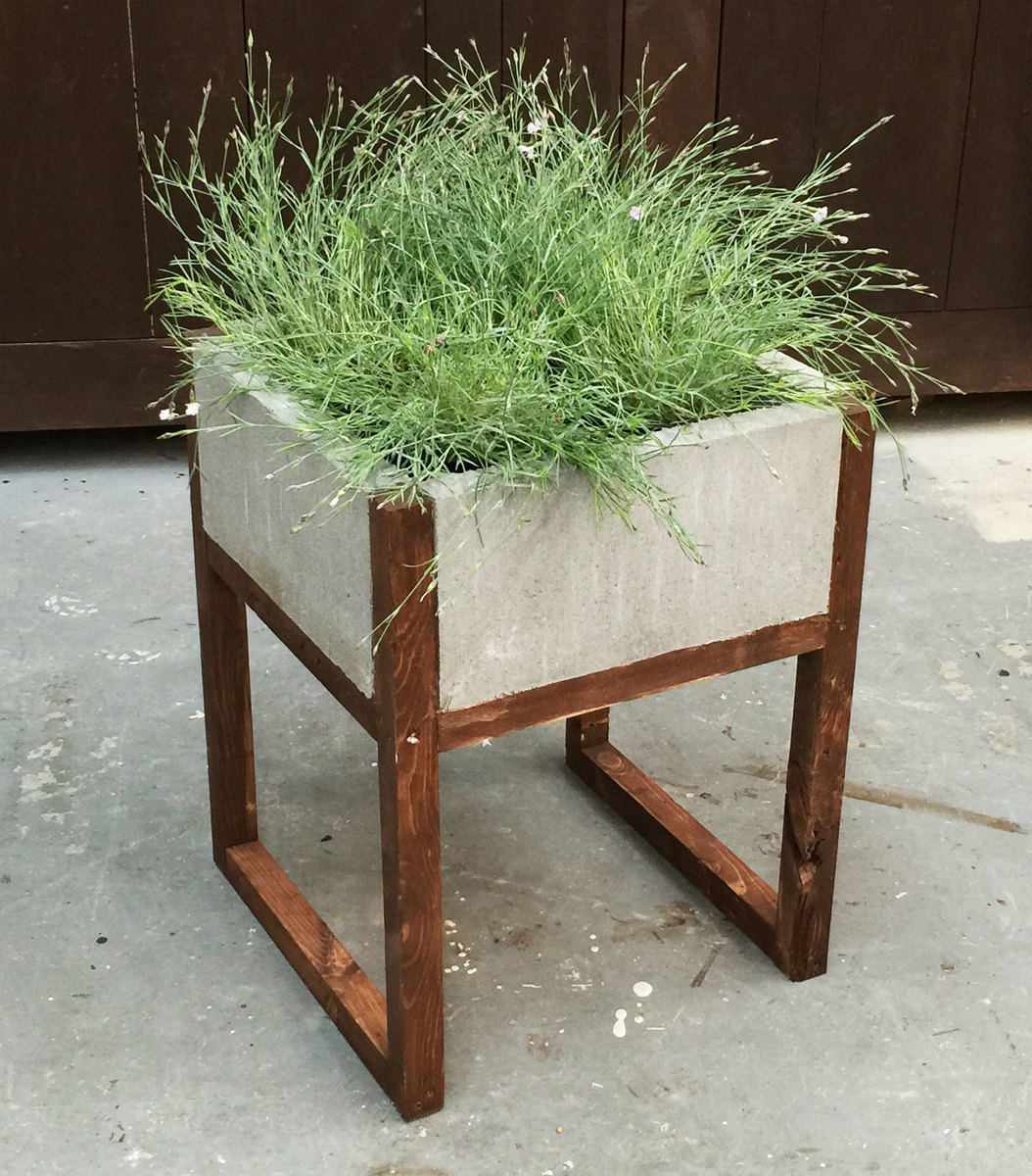 Ana white home depot dih workshop modern paver planter Concrete planters