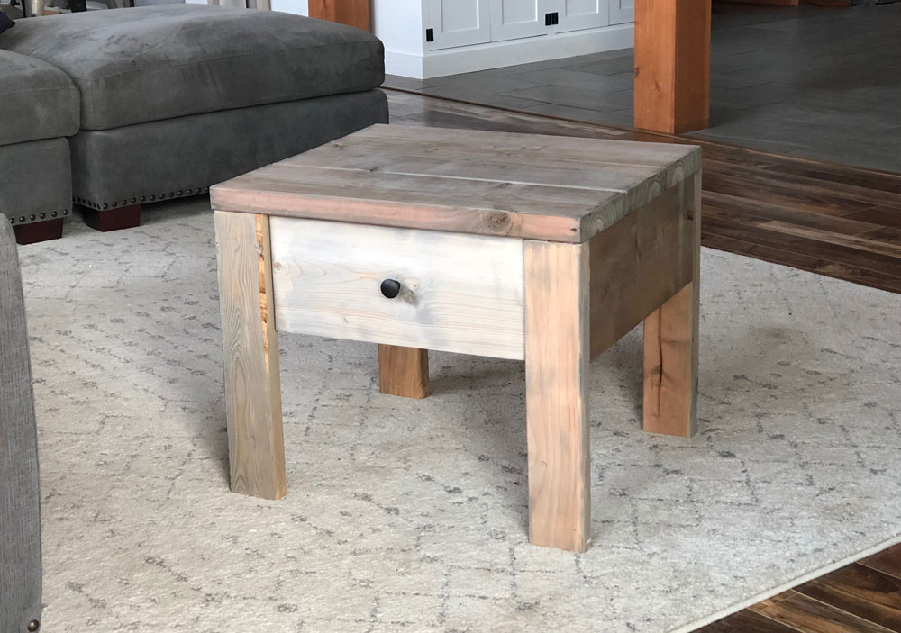 modern farmhouse nightstand gray finish