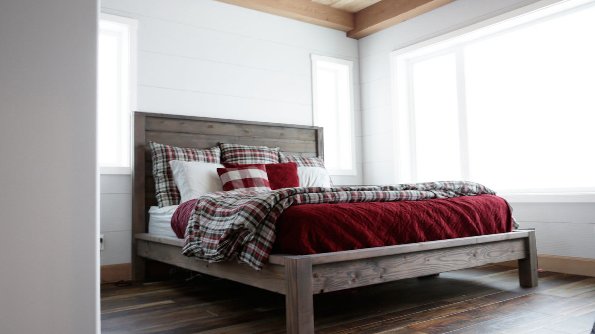 Ana white modern farmhouse bed diy projects for Farmhouse style bed