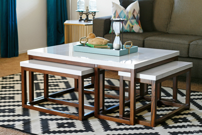 Nesting Dining Tables ~ Ana white three way nesting coffee tables diy projects