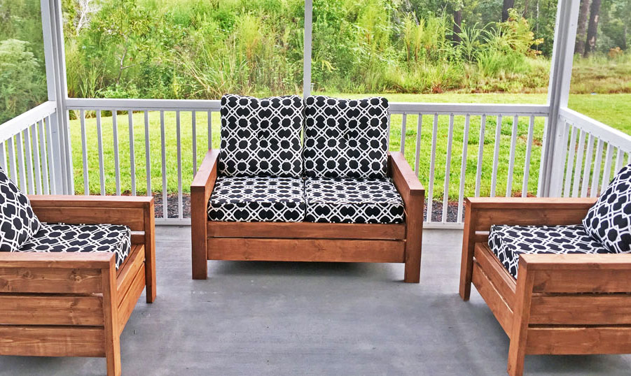 loveseat version of modern outdoor chair
