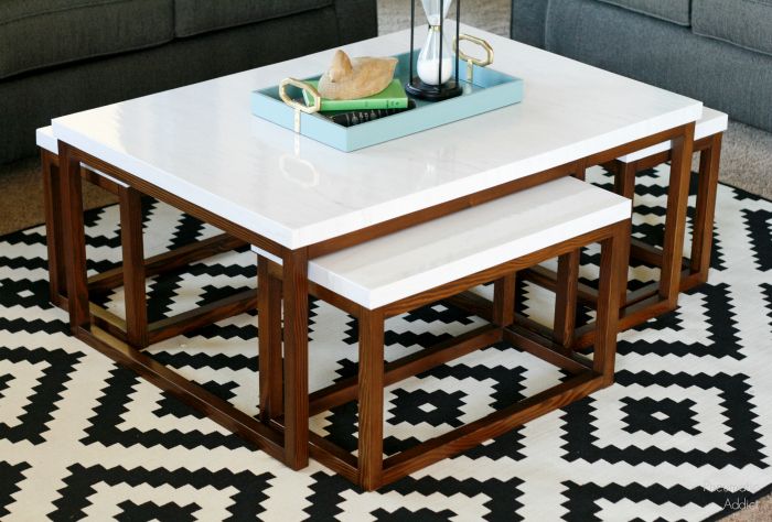modern 3 way nesting coffee table plans