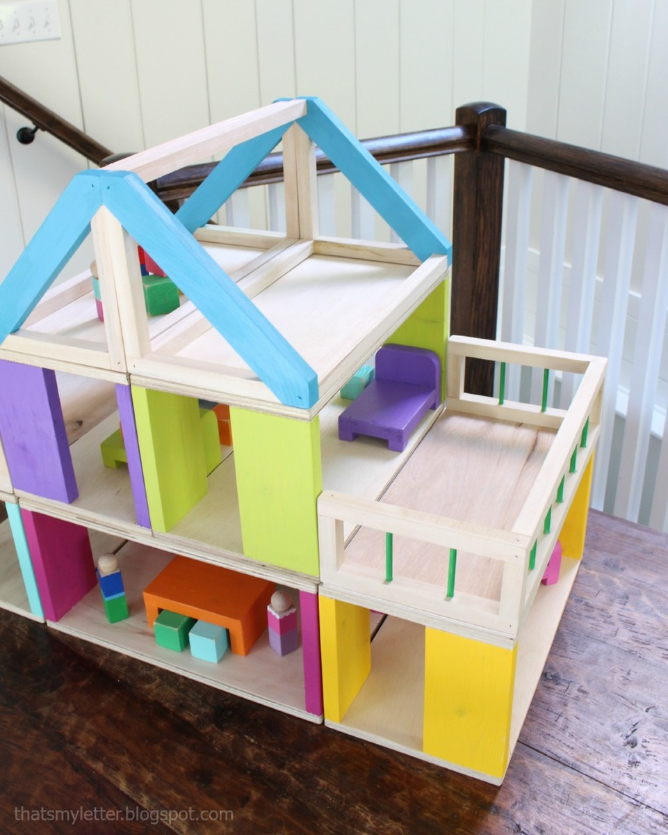 Ana white how to modular stackable dollhouse diy projects for Build a house online