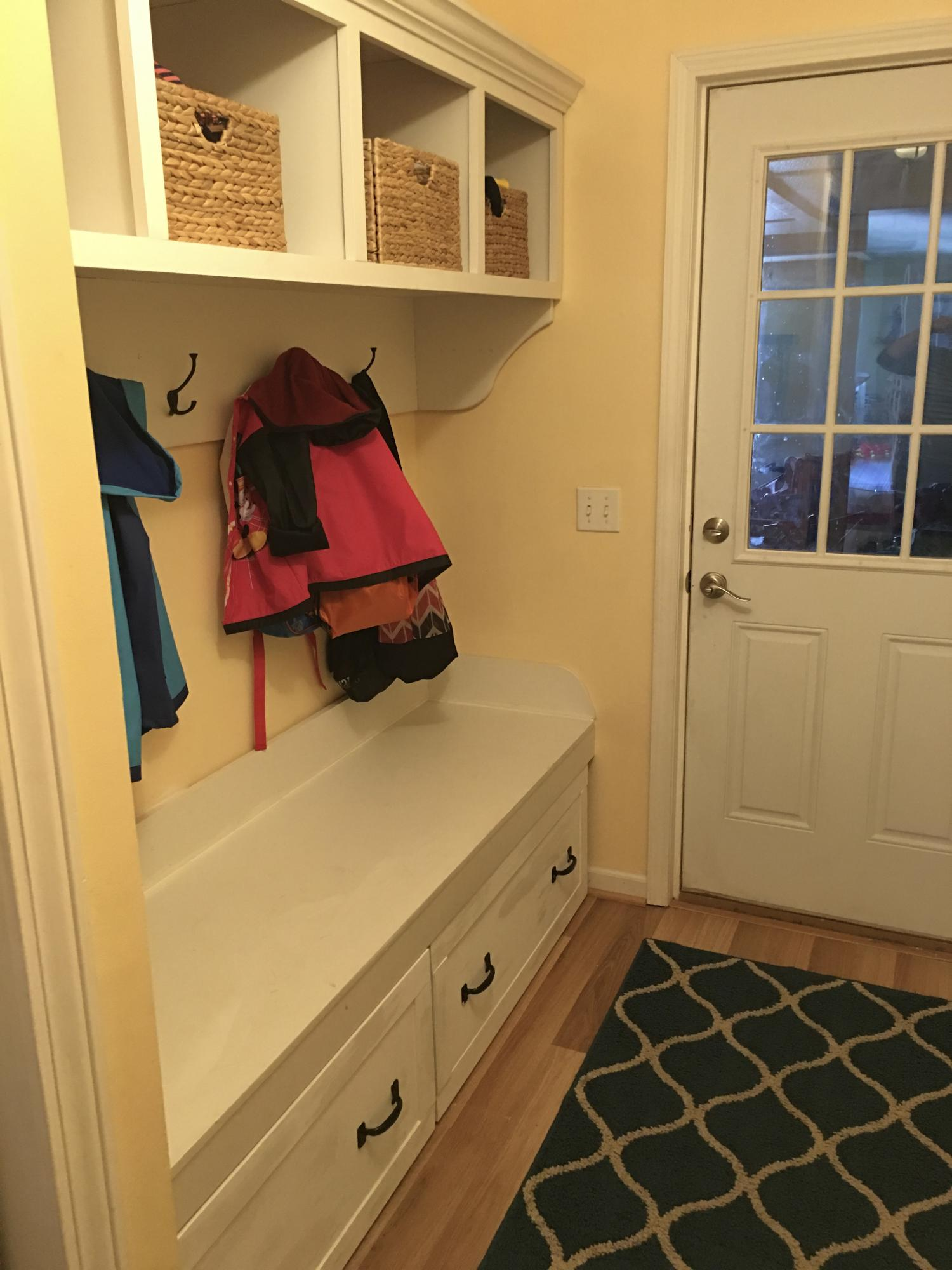Mudroom Bench Above Storage And Drawers Ana White