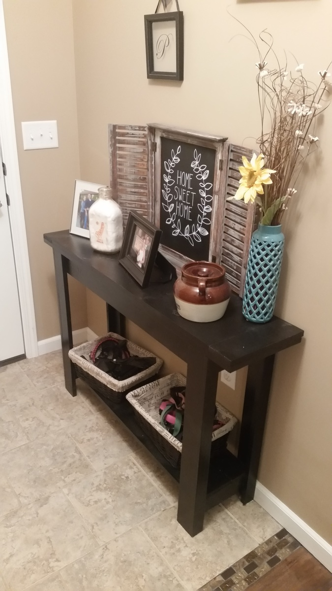 ana white simple cheap and easy console table with bottom shelf diy projects - Cheap Console Tables