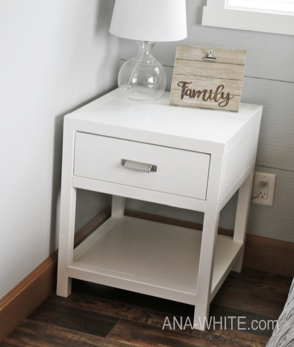 Build Your Own Simple Modern Bedside Table Or Nightstand Free Plans By Ana White
