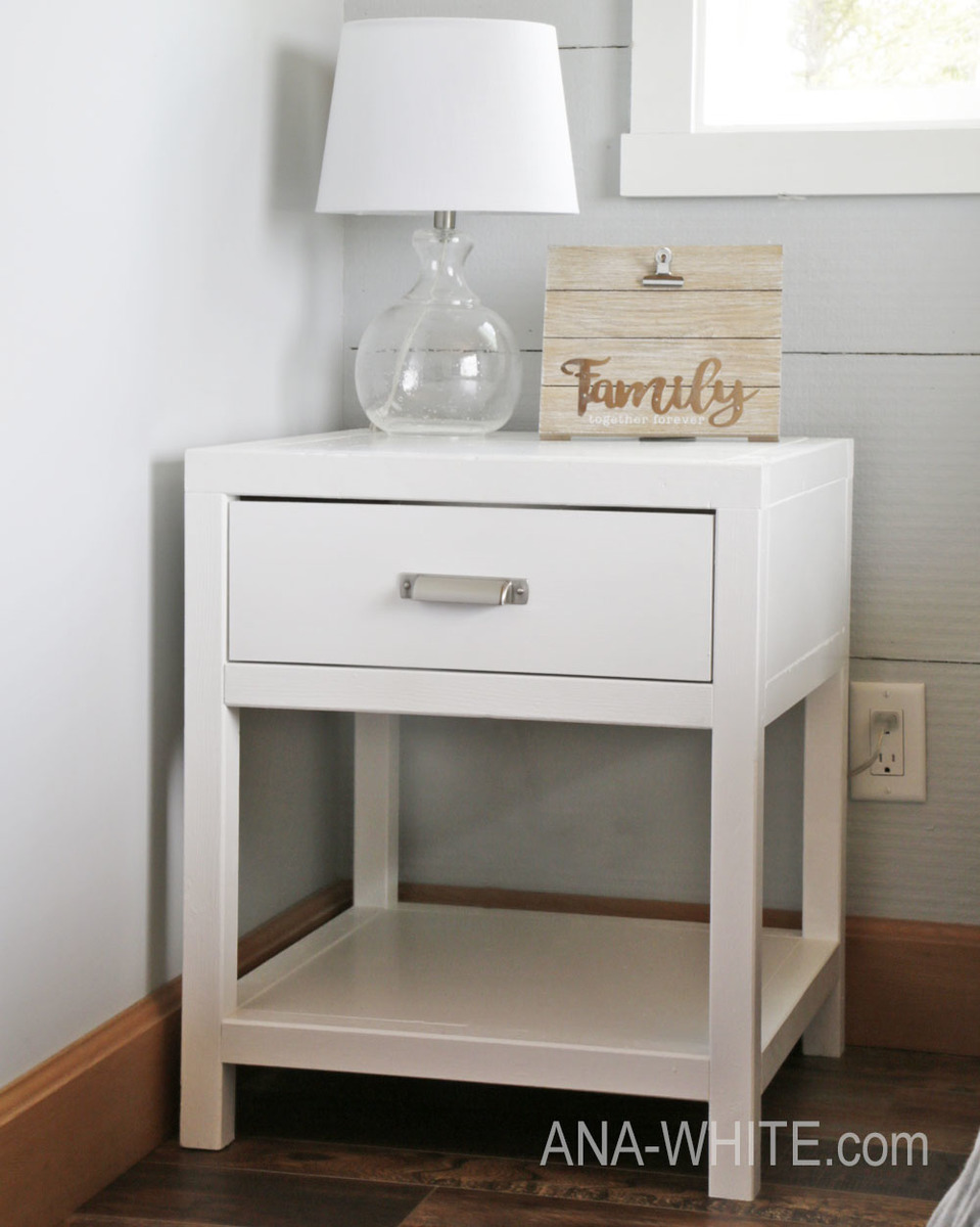 Simple Modern Bedside Table Ana White