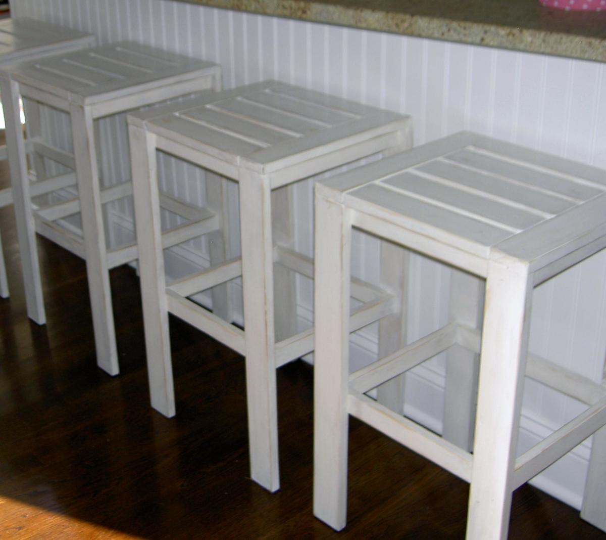 ana white stools for the bar table for the simple outdoor collection diy projects
