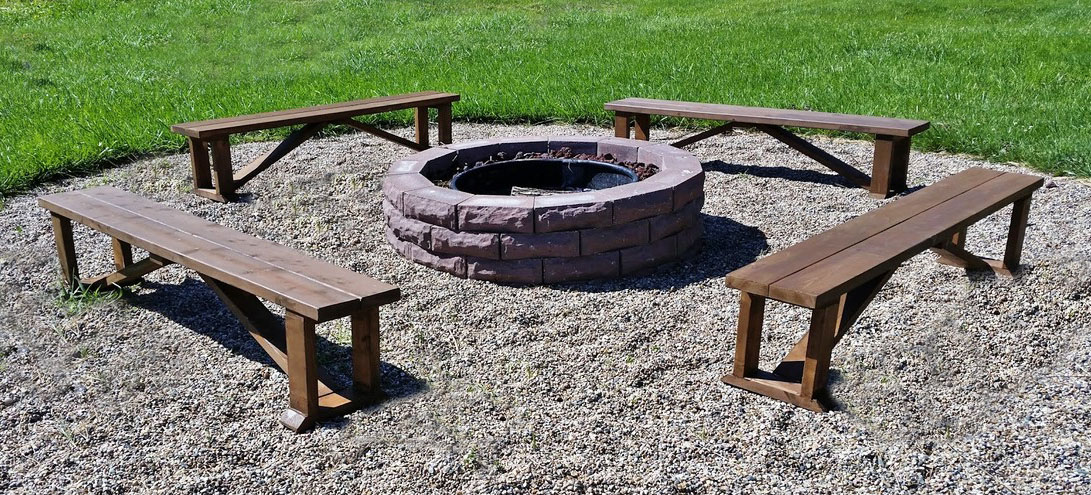 Hier Homemaker Outdoor Firepit Benches Ana White